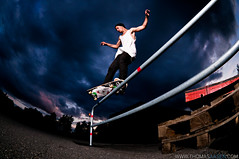 Kristoffer iseth - Fs feeble (Thomas sen) Tags: two norway dark delete5 delete2 nikon skies skateboarding delete6 save3 rail delete3 save7 save8 delete delete4 save save2 fisheye save4 skate skateboard save5 save10 nikkor save6 grind frontside fs 105mm feeble d90 strobist sb900 savedbythehotboxuncensoredgroup