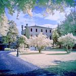 Villa hotel, Mirano, near Venice, Italy (infra red).