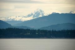 Mount Baker over Samish Island
