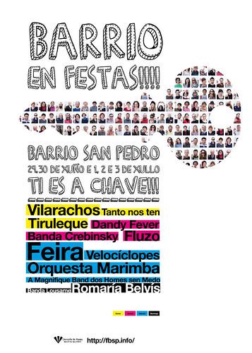 Santiago de Compostela 2011 - Festas do Barrio de San Pedro - cartel