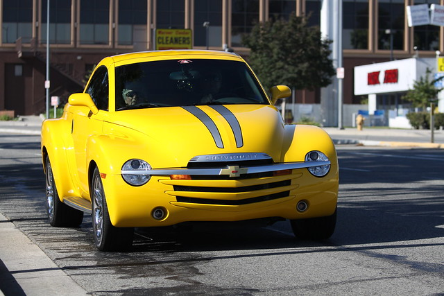 auto california road ca street chevrolet car yellow la losangeles gm chevy ssr spotting woodlandhills
