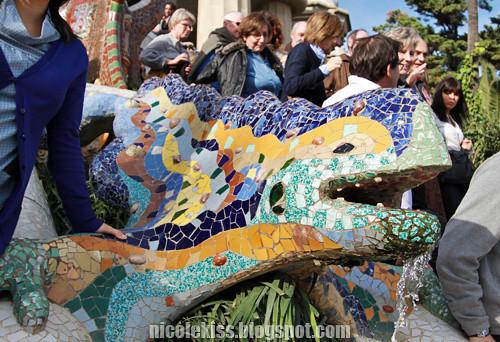 park guell mosaic dragon