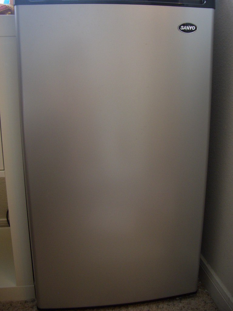 #2 Sanyo compact refrigerator SR 3720M for $85