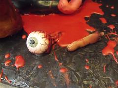 punk rock zombie eyeball and finger (Cake Rhapsody) Tags: monster cake rock foot death scary blood punk zombie chocolate finger eyeball rocker gore horror mohawk anarchy undead corpse zombies airbrush intestines fondant buttercream edibleart walkingdead royalicing barbaranngarrard cakerhapsody