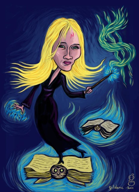 J. K. Rowling's Magic Touch - Caricature by Gilderic
