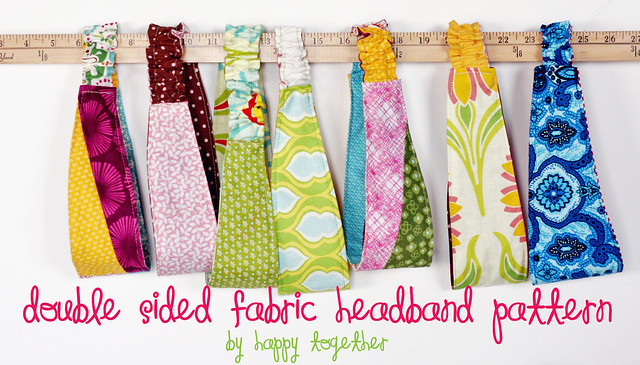 Double Sided Fabric Headband Pattern