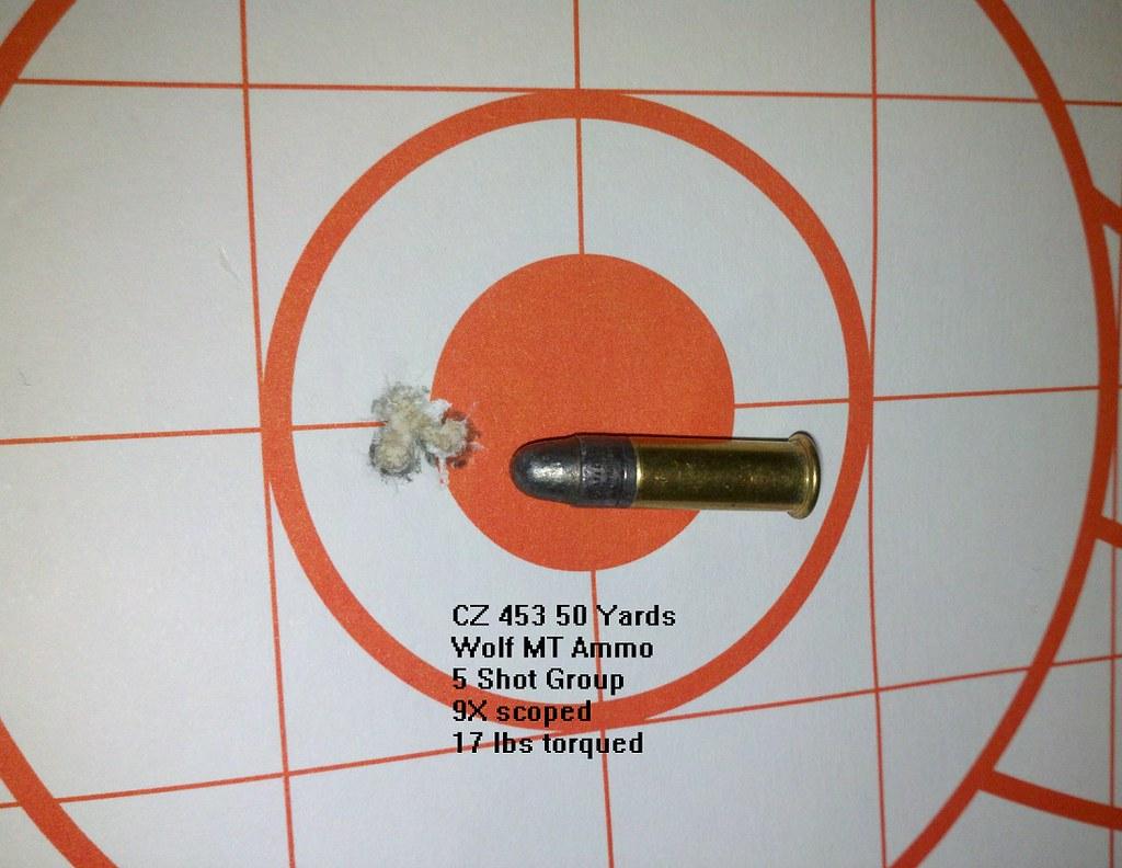 CZ 453 50 yard accuracy