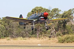 P-40 take-off (joolsgriff) Tags: australia airshow kittyhawk curtiss p40 warhawk p40n tyabb vhzoc
