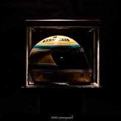 Ayrton Senna Tribute (DIVIO | photography za) Tags: blue brazil green glass yellow brasil honda photography 1 helmet rep f1 case replica mclaren hero myart formula forever sempre za showcase nacional senna idols bij ayrton mp44 divyesh 20years hugeboss divio dajee sennasempre sennaforever memrobila