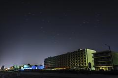 """The Meteor Shower that never was"" - Ormond Beach, Fl (AlanMarlowe) Tags: longexposure blue red orange white beach night dark stars nikon colorful florida 10 beaches speedlimit 1855mm daytonabeach nikkor daytona startrails 18mm 2014 ormondbeach ormond d5100 nikond5100"