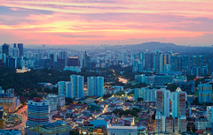 After the Sunset (ZawWai09) Tags: city sunset red urban mountain singapore glow hill burning aftersunset