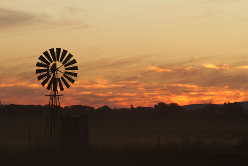 Windmill, Dust and  sunset_1527