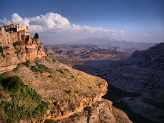 Yemen (denismartin) Tags: africa highdynamicrange painting tunisie highdynamicrangeimaging denismartin cloud sky yemen yemenia yemeni kawkaban village mountain