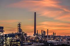 Chemical industry (uw67) Tags: niederrein kleve sunreise landschaft emmerich goldenestunde landscape county sonnenaufgang