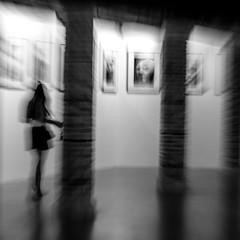 LA DOUANE DE MER; EXPOSITION (zventure,) Tags: nb noiretblanc bw blackandwhite monochrome exposition exhibition intérieur visiteur colonnes venise venice venisesept2016 douanedemer photographie femme