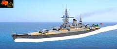 French Battlecruiser Dunkerque (Eínon) Tags: ship lego model classe cuirasse croiseur de bataille france cuirassés poche strasbourg toulon brest chantiers latlantique arsenal