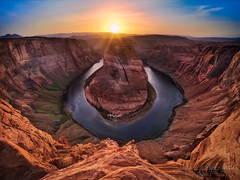 The Bend - Page , Arizona .... Darwin Awards Moment (janusz l) Tags: sunset red arizona rock river bravo colorado desert bend darwin drop canyon glen page horseshoe awards hdr nationalmonument hight janusz leszczynski 011723