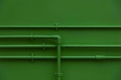 Green (Dick Snaterse) Tags: green wall groen pipes structure piping muur structuur utilitypipes leidingen