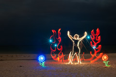 Sparkler Man! (TxPilot) Tags: longexposure light lightpainting art night painting fire photography lights graffiti nikon long exposure paint bright led lap lighttrails movinglights sparkler lightgraffiti lightpaint lightemittingdiode d700 lightgraf lightartphotography