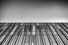 line of sight (james_drury) Tags: york architecture modern mono blackwhite university east heslington sigma1020