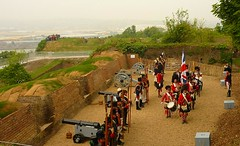 21 Gun Salute for Royal Wedding, Fort Amherst, 29th April 2011 (Brompton Village) Tags: england kent fort salute chatham fortification medway princewilliam brompton royalwedding fortamherst 21gunsalute katemiddleton