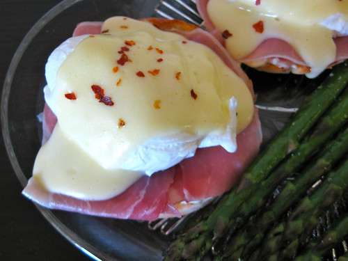 eggs benedict, italian-style (on homemade, gluten-free english muffins