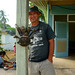 Steve and a Coconut Crab
