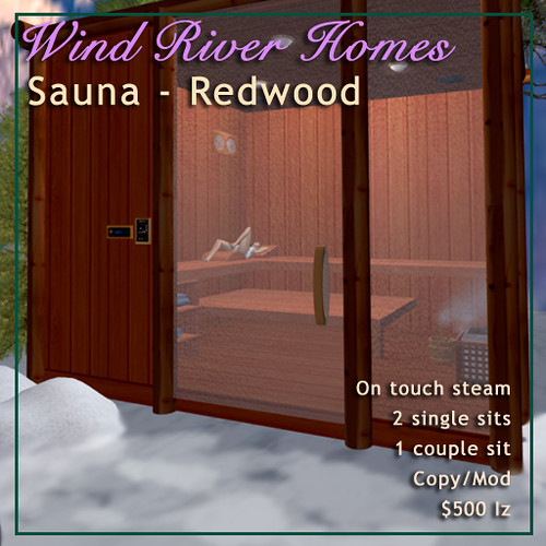 Sauna in Redwood by Teal Freenote