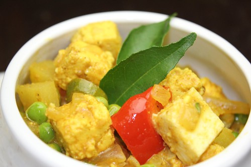 pea and paneer curry (mattar aloo paneer)