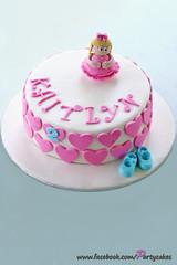 Little Dancer birthday cake (PartyCakesByLeora) Tags: birthday pink blue girl cake shoes little dancer 2nd figure ribbon fondant