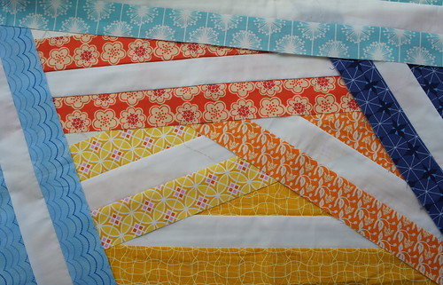 A Zig and A Zag : Sewing the Strips together