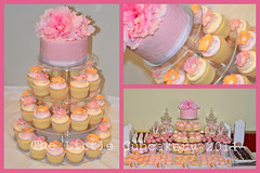 Ashlynne's Baptism (TheLittleCupcakery) Tags: pink orange table dessert little baptism vanilla tlc macarons cupcakery klairescupcakes