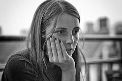 portrait of a girl (Winfried Veil) Tags: leica portrait blackandwhite bw berlin girl 50mm finger rangefinder portrt fingernails sw summilux asph mdchen m9 2011 schwarzweis fingernagel fingerngel brnett messsucher mobilew leicam9 winfriedveil
