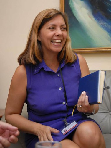 Josefina Vidal Ferreir of the North American Department of the Republic of Cuba foreign affairs division. She has responded to false allegation made by US imperialism involving her socialist country. by Pan-African News Wire File Photos