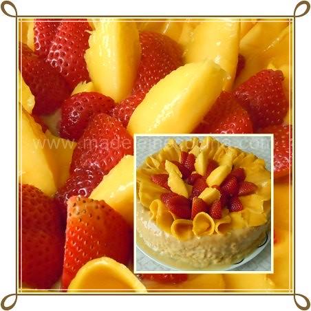 Pastel de mango y 2 leches, detalle
