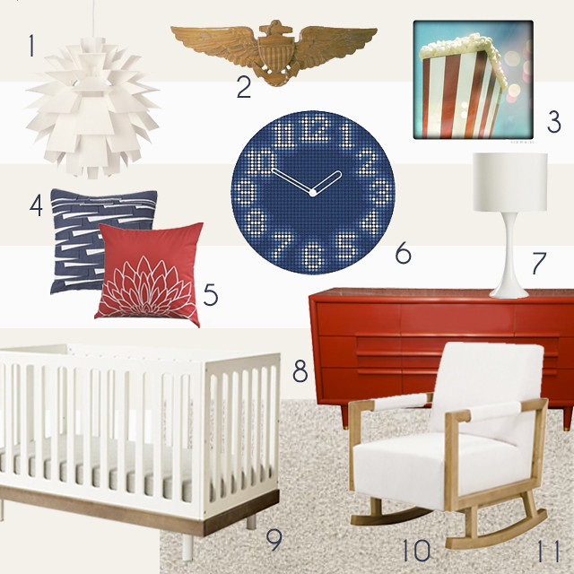 4th of July Nursery Mood Board