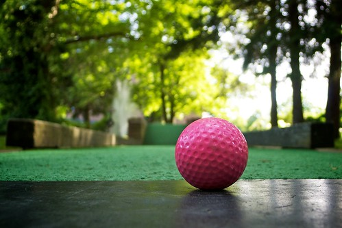 A golfball's perspective.