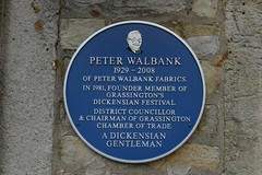 Photo of Peter Walbank blue plaque