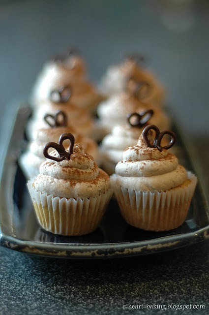 7 Iheartbaking-Coffee Chiffon Cupcakes Choco Heart Decoration