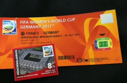 Fußball-WM 2011: Ticket Frankreich vs. Deutschland