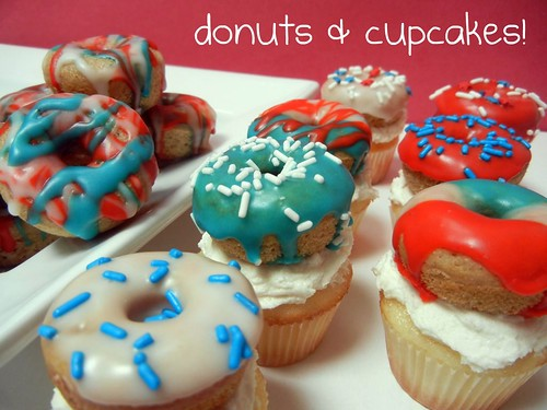 donuts and cupcakes