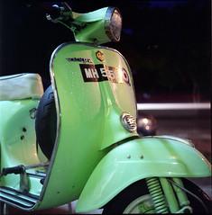 * (photokedek/fahmi) Tags: 6x6 film night mediumformat mod vespa fuji nightshoot squareformat malaysia slowshutter pro lm funfair yashica outing terengganu 120mm lighttrail 80mm kualaterengganu 400h yashicalm yashikor photokedek mohdfahmi