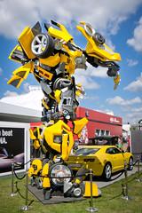 Bumblebee (Lee in York) Tags: lumix camaro panasonic bumblebee transformers fos festivalofspeed 2011 lx5
