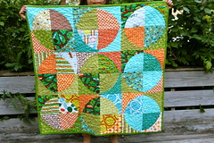 drunkard's path baby quilt (bestitched) Tags: quilt quilting drunkardspath kbeec