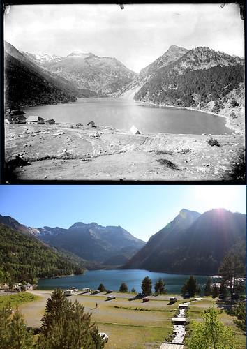 Les Pyrénées d'hier et d'aujourd'hui : lac d'Orédon