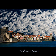 Collioure (rohaberl) Tags: france clouds harbor collioure midi sdfrankreich idream colorphotoaward bestcapturesaoi elitegalleryaoi