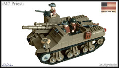 Lego ww2 -M7 Priest- (=DoNe=) Tags: world 2 by self viktor war gun tank lego bricks copper priest done m4 sherman propelled chassi legoww2m7priest
