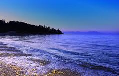Dusky Blue (Orbittrap) Tags: ocean blue sunset canada beach water island photography photo sand rocks bc pacific britishcolumbia picture vancouverisland pacificnorthwest gabriolaisland gulfislands bluehour gabriola straitofgeorgia georgiastrait d90