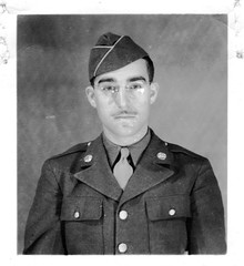 Rogelio Alberto Casas as new U.S. Army Recruit c. 1942 (Maine Transplant) Tags: wwii ww2
