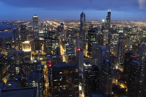 Chicago Skyline at night by Mastery of Maps, on Flickr